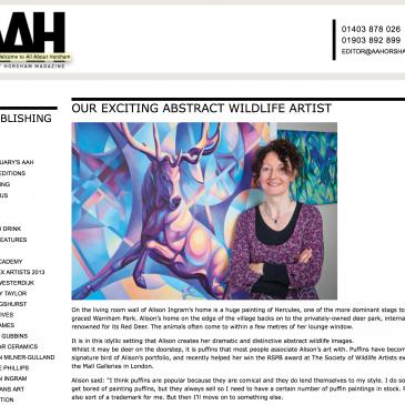 Alison Ingram: Abstract Wildlife Artist