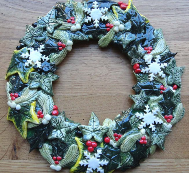 Ceramic Christmas Wreath - Susan Tindall