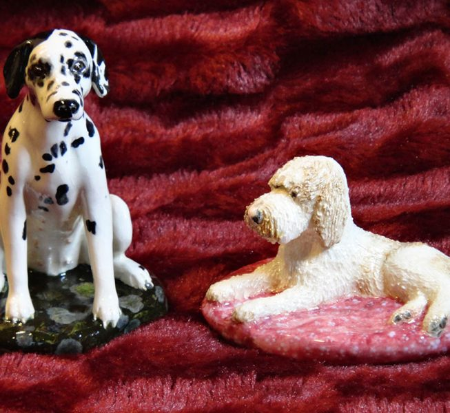Ceramic Dog Sculptures - Susan Tindall