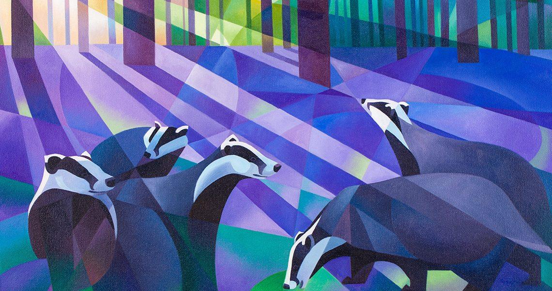 Badgers, Bluebells and Moonlight - Alison Ingram