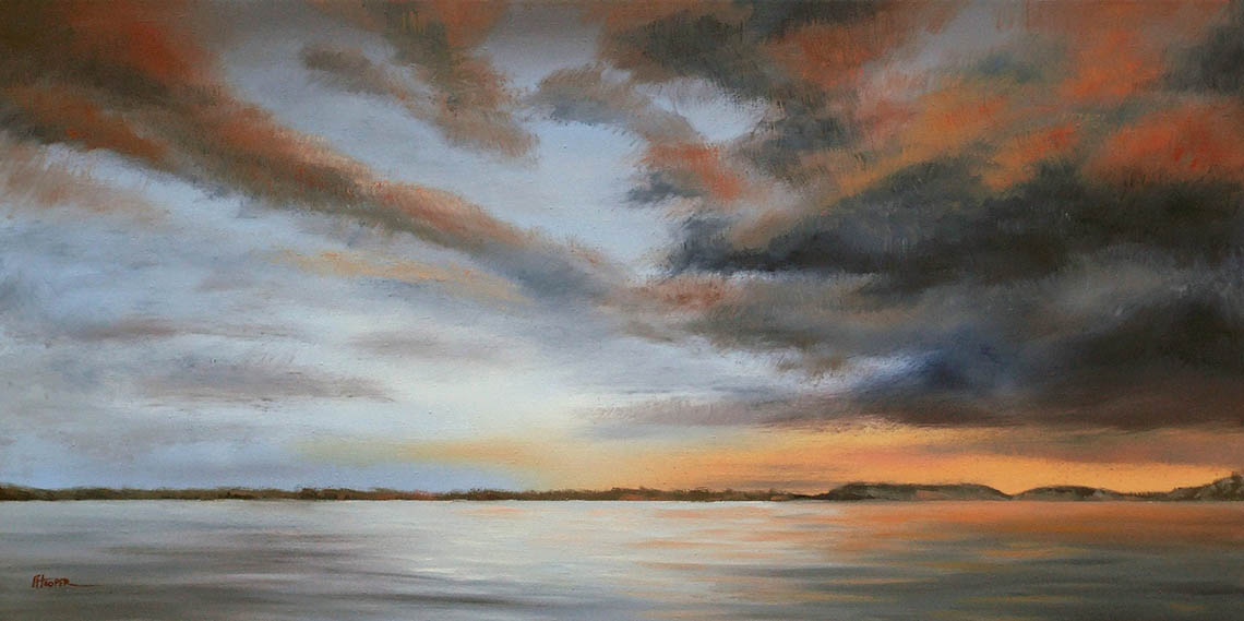 Clouds Over Night Rider Bay - Fiona Hooper