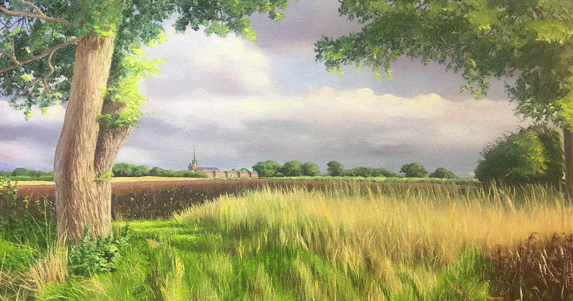 Cowfold Monastery Between Two Oaks - Carole Skinner-Rupniak